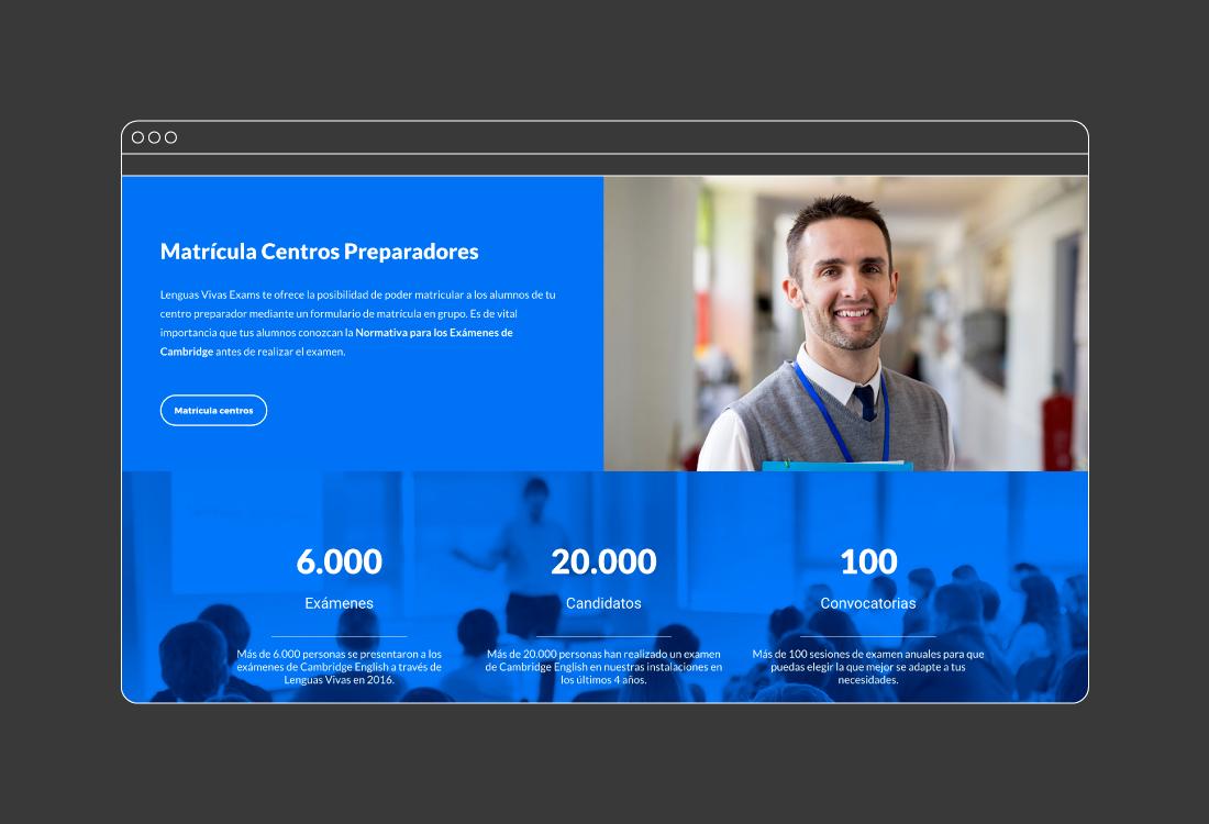 Web corporativa centro idiomas