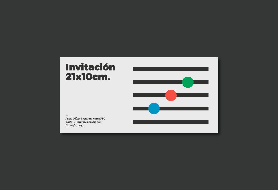 Diseño invitación evento
