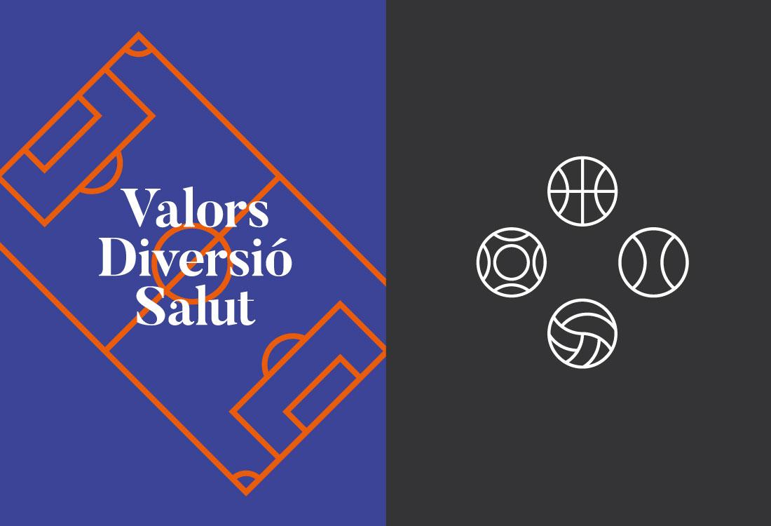 Diseño gráfico marca deportiva